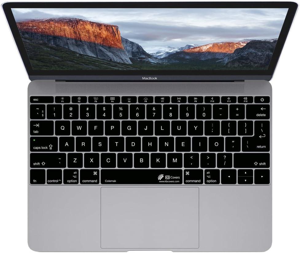 COLEMAK-M12-2 KB Covers Colemak Keyboard Cover for MacBook 12 Retina