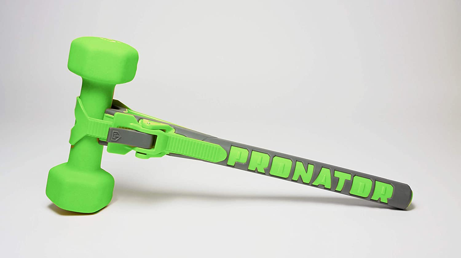 PRONATOR – Build Arm Strength Using Any Dumbbell You Can Find Green and Grey