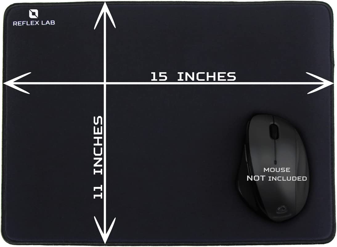 "Ultra Thick 5mm Reflex Lab Large Extended Gaming Mouse Pad Mat XXL Stitched Edges Waterproof Wide /& Long Mousepad 36/""x12/""x.20 Black"