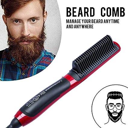 Lesgos - Rizador de pelo eléctrico para barba, cepillo para ...