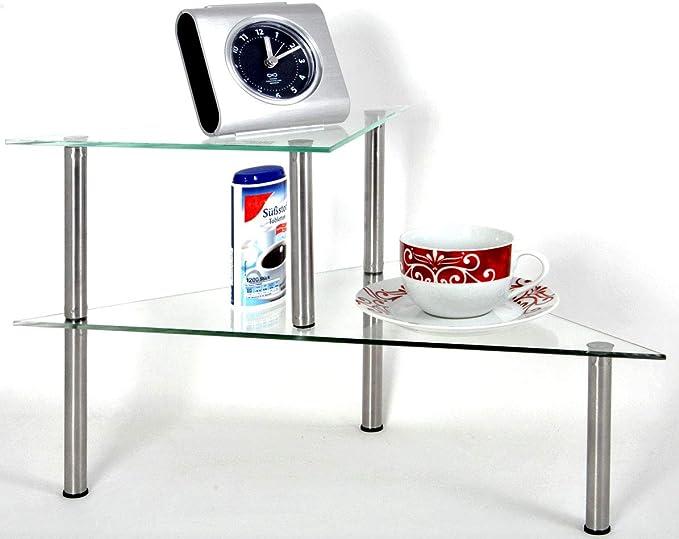zweistufiges Küchenregal Edelstahl 49,5 x 35 cm
