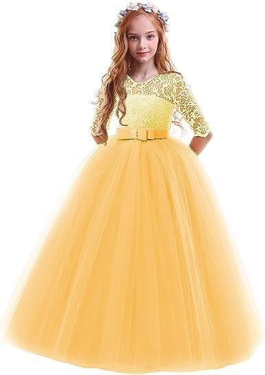 Princess Party Wedding Banquet Kids  Clothing Flower Childl Costume  Dress