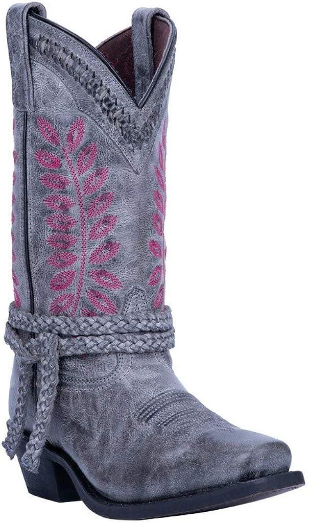 "Laredo Western Boots Womens 11"" Shaft Fern Square Toe Gray 51148"