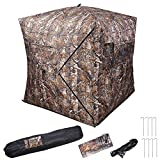 AW Pro 58x58x65 Hunting Blind Tent 300D Polyester Fibre w/Carrying Bag Outdoor Sport