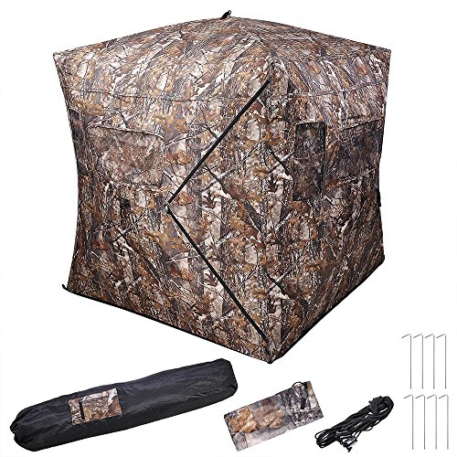 AW 58x58x65' Pro Hunting Blind Tent 300D Polyester Fibre w/ Carrying Case Outdoor Sport Shooting