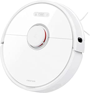 Roborock S6 Robot Vacuum, Robotic Vacuum Cleaner and Mop with Adaptive Routing, Selective Room Cleaning, Super Strong Suction, and Extra Long Battery Life, Works with Alexa(White)