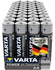 VARTA Power on Demand AA Mignon Batterien (40er Pack Vorratspack in umweltschonender Verpackung - smart, flexibel und leistungsstark - z.B. für Computerzubehör, Smart Home Geräten oder Taschenlampen)