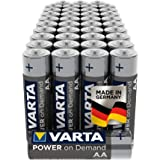 VARTA Power on Demand AA Mignon Batteries (40-Pack, Economy Pack in Environmentally-Friendly Packaging - Smart, Flexible…