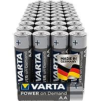 Varta Power on Demand AA Mignon Batterijen (verpakking met 40 stuks Voorraadpakket in milieuvriendelijke verpakking…