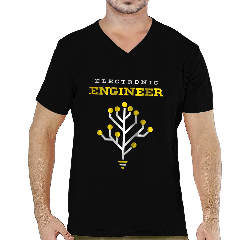 a2049c44 Pooplu Mens Electronic Engineer Cotton Printed V Neck Half Sleeves Black &  White t.Shirt. College, Boys, Fun, Masti, Symbol Tshirts: Amazon.in:  Clothing & ...