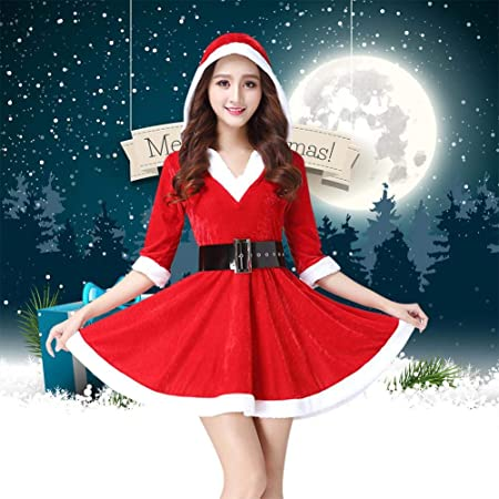 Santa Claus Christmas Costume Nativity Fancy Dress Tights Xmas Womens  Adults Sexy Outfit Costumes Party Baby Girls Princess Top  Amazon.co.uk   Kitchen   ... 1afeb0f906fa