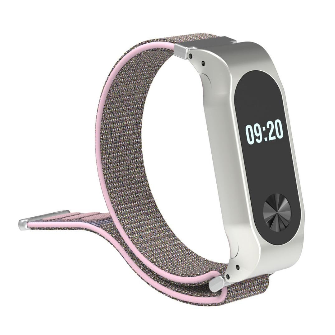 Amazon.com: LtrottedJ Lightweight Nylon Adjustable Replacement Band Sport Strap For XiaoMI MI Band 2 (Pink): Cell Phones & Accessories