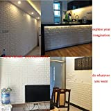 5 Pcs 3D Brick Wall Stickers, White Brick