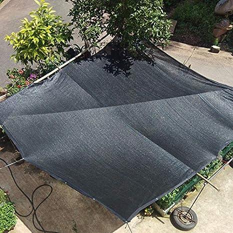 LKLXJ Vela De Toldo/Vela De Sombra Sombra Negra Neta 95% Vela Rectangular/Protector Solar Tela De TamañO Completo/Vela Solar para JardíN/Toldo De Malla De Valla, Utilizada para Cubrir Arena: Amazon.es: Hogar