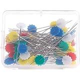 Blue Vessel 50 Stück / Packet Patchwork-Fertigkeit-Blumen-Knopf-Hauptstift Quilting Werkzeug Nähnadeln Zubehör