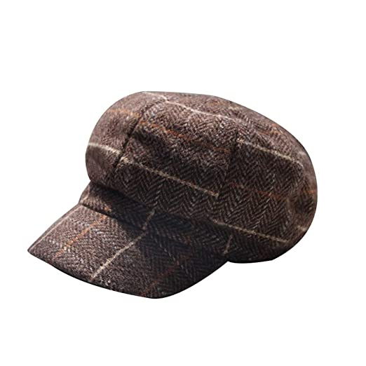 deb7be97 Amazon.com: TANGSen Unisex Plaid Ponytail Messy Hat Buns Trucker Plain  Baseball Visor Cap Women's Men Outdoor Casual Dad Hat Coffee: Clothing