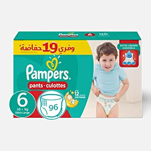 Pampers Extra Large Pants Diapers, Size 6-96 Diapers