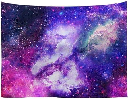 CYYCY Tapiz Forest Tapestry Psicodelicos Tapiz Pared Azul para la ...