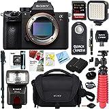 Sony a7R III 42.4MP Full-frame Mirrorless Interchangeable Lens CamSony a7R III 42.4MP Full-frame Mirrorless Interchangeable Lens Camera Body + Extra Battery 128GB Memory & Flash a7RIII Accessory Bundl