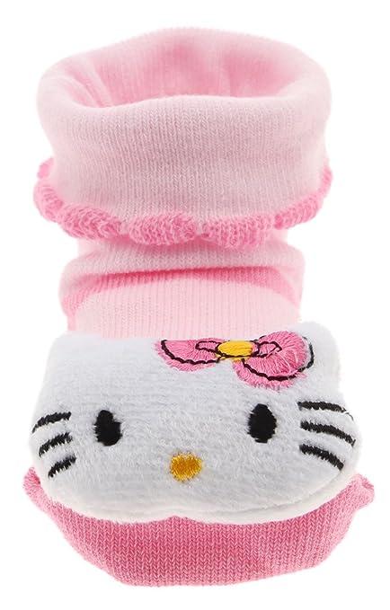 Lukis 1 par Colour rosa de calcetines para bebé de peluche para zapatos unisex calcetines Babygl