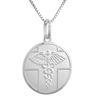 Amazon sterling silver medical alert necklace round italy 34 amazon sterling silver medical alert necklace round italy 34 inch 16 inch box015 jewelry aloadofball Image collections