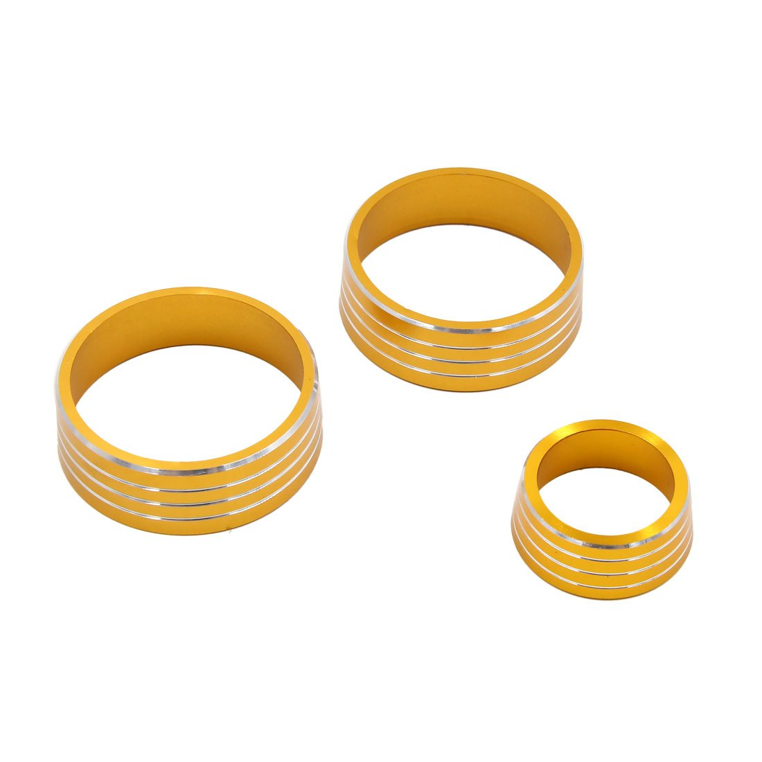 uxcell 3pcs Gold Tone Air Condition Audio Switch Decorative Ring Set for Honda City XRV