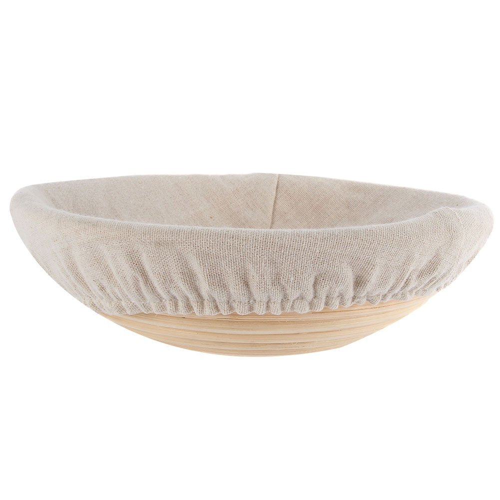 ESHOO Round Banneton Bread Proofing Basket with Liner 5/7/8/9/10 Inch