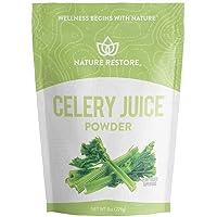 Nature Restore Celery Juice Powder, 8 Ounces / 226 Grams, for Detox, Gut & Heart Health