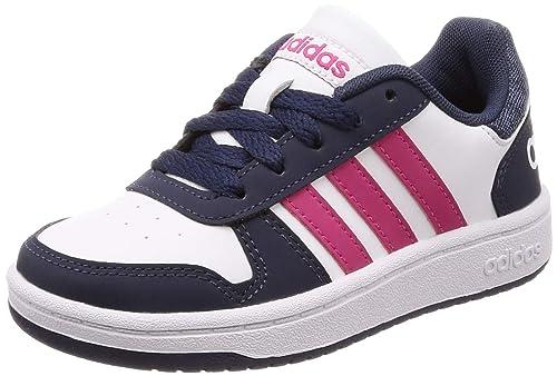 adidas Hoops 2.0, Zapatos de Baloncesto Unisex Niños, Blanco Ftwwht/Reamag/Trablu, 39 1/3 EU: Amazon.es: Zapatos y complementos