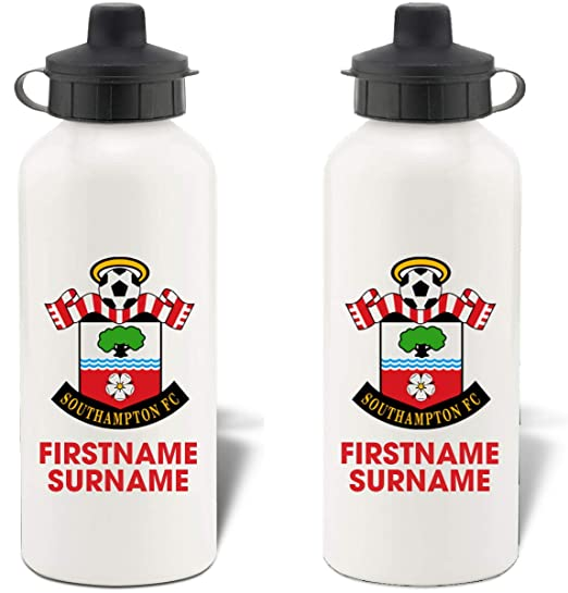 Free Delivery Personalised Manchester City FC Retro Shirt Water Bottle