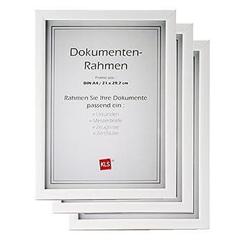 3er Set Bilderrahmen Rahmen Für Dokumente Zertifikat Und Urkunden