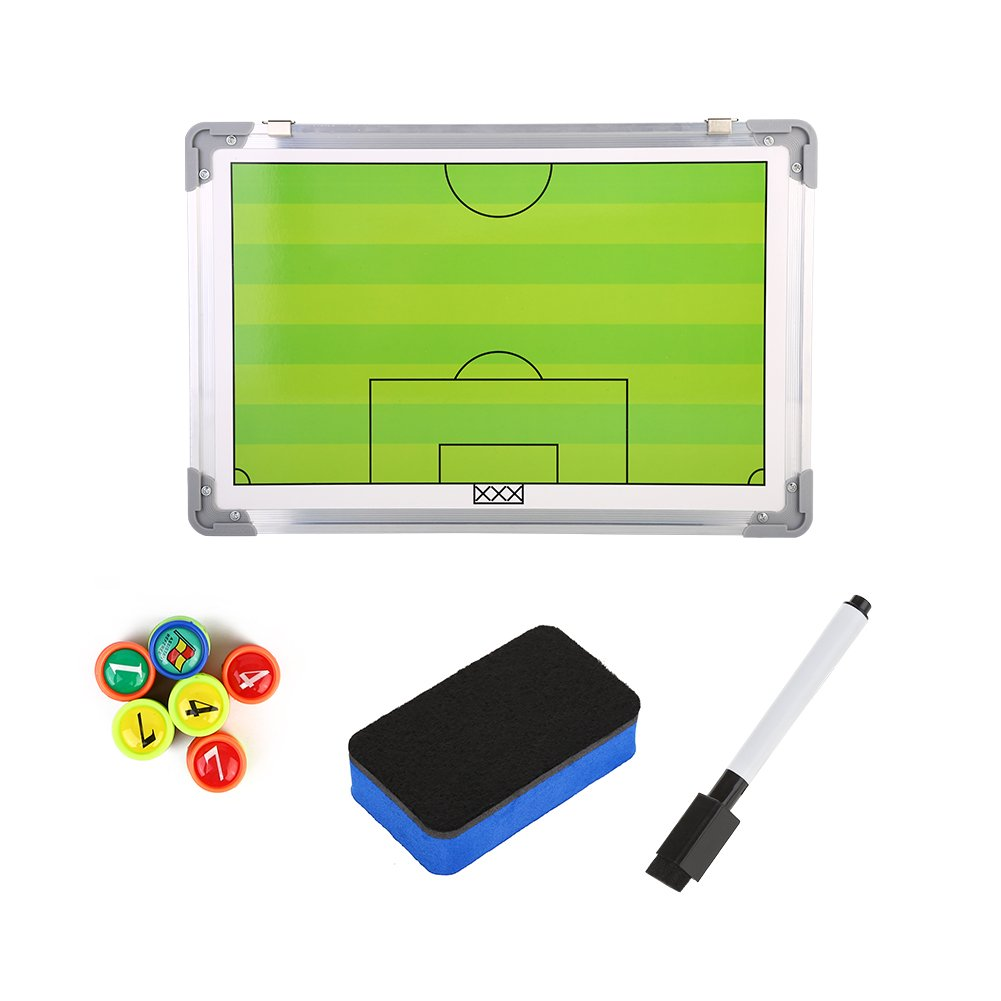 Football Coach Board Magentic Football Strategy Board with Marker Pen & Eraser to Master Strategy VGEBY