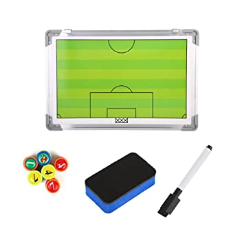 964701589 Soccer Coaching Board, Magentic Foottball Coach Strategy Lightweight Metal  Board Training Equipment with Pen & Magents, Football Machines - Amazon  Canada