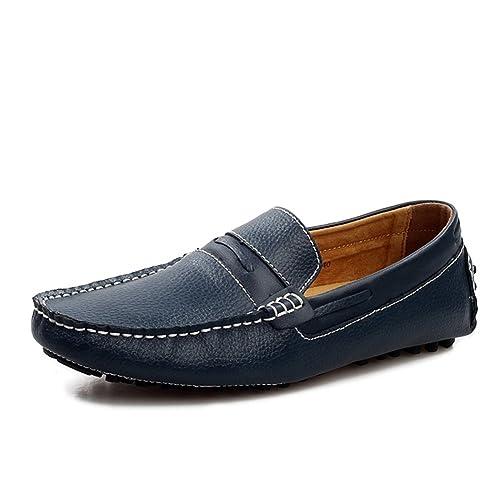 Zapatos de Hombre de Cuero Mocasín y Mocasines de Verano de Verano Mocasín para Oficina y