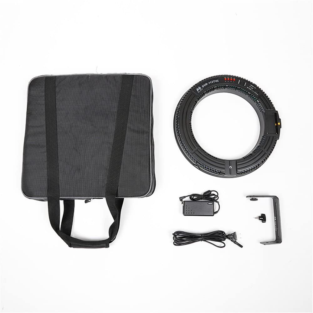 Mivitar Falconeyes DVR-112TVC 112 LED Ring Panel Bi Color 3000-5600K Continuous Video Light with Camera Bracket