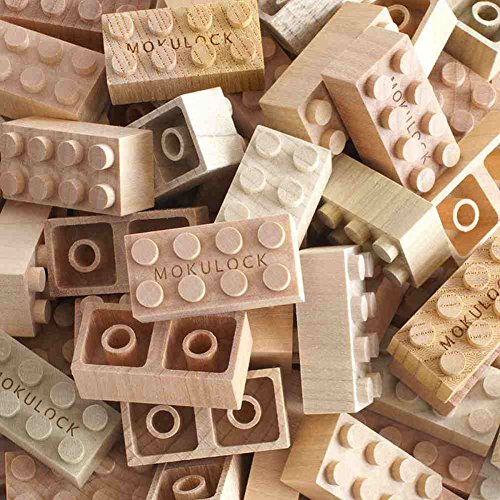- Mokulock Wooden Building Blocks, 48 Pieces