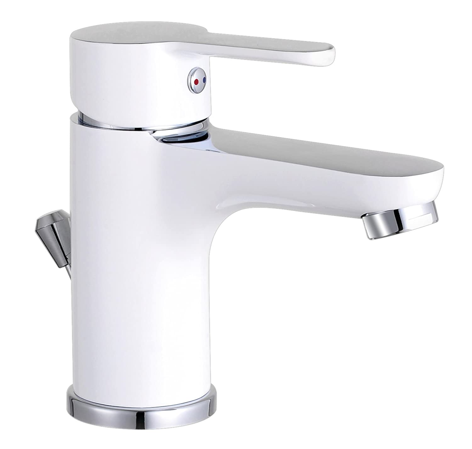 Disegno Nuevo Basin tap, Single-Lever Mixer tap, with pop-up Waste Drain, Bicolour, Item Number: NI075DINWCR Eisl Sanitär GmbH