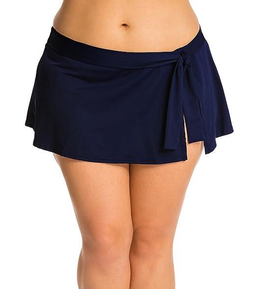 mieux aimé 4121d 505ae Honofash Jupe de Maillot de Bain Femme Bas de Bikini Courte ...