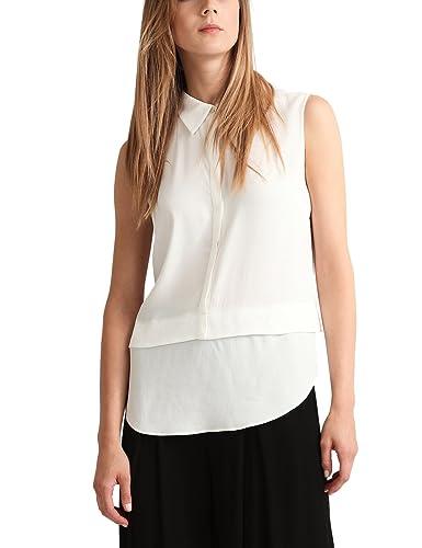 APART Fashion Fashion: Clear Black & Cream, Blusa para Mujer