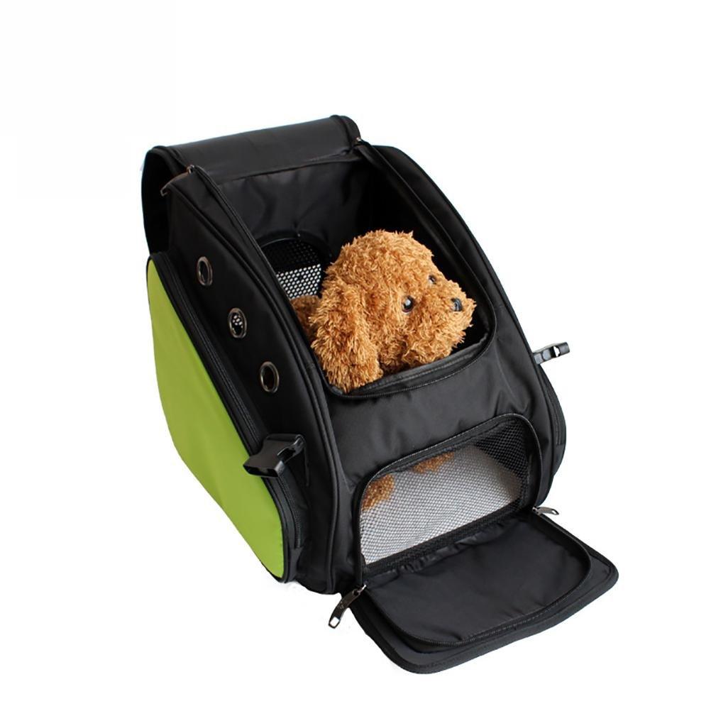 LIYUU Car Collapsible Pet Out Portable Portable Breathable Bag, Green