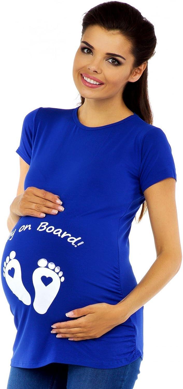 Zeta Ville Magliette Premaman Divertenti Stampa T-Shirt Top Donna 199c