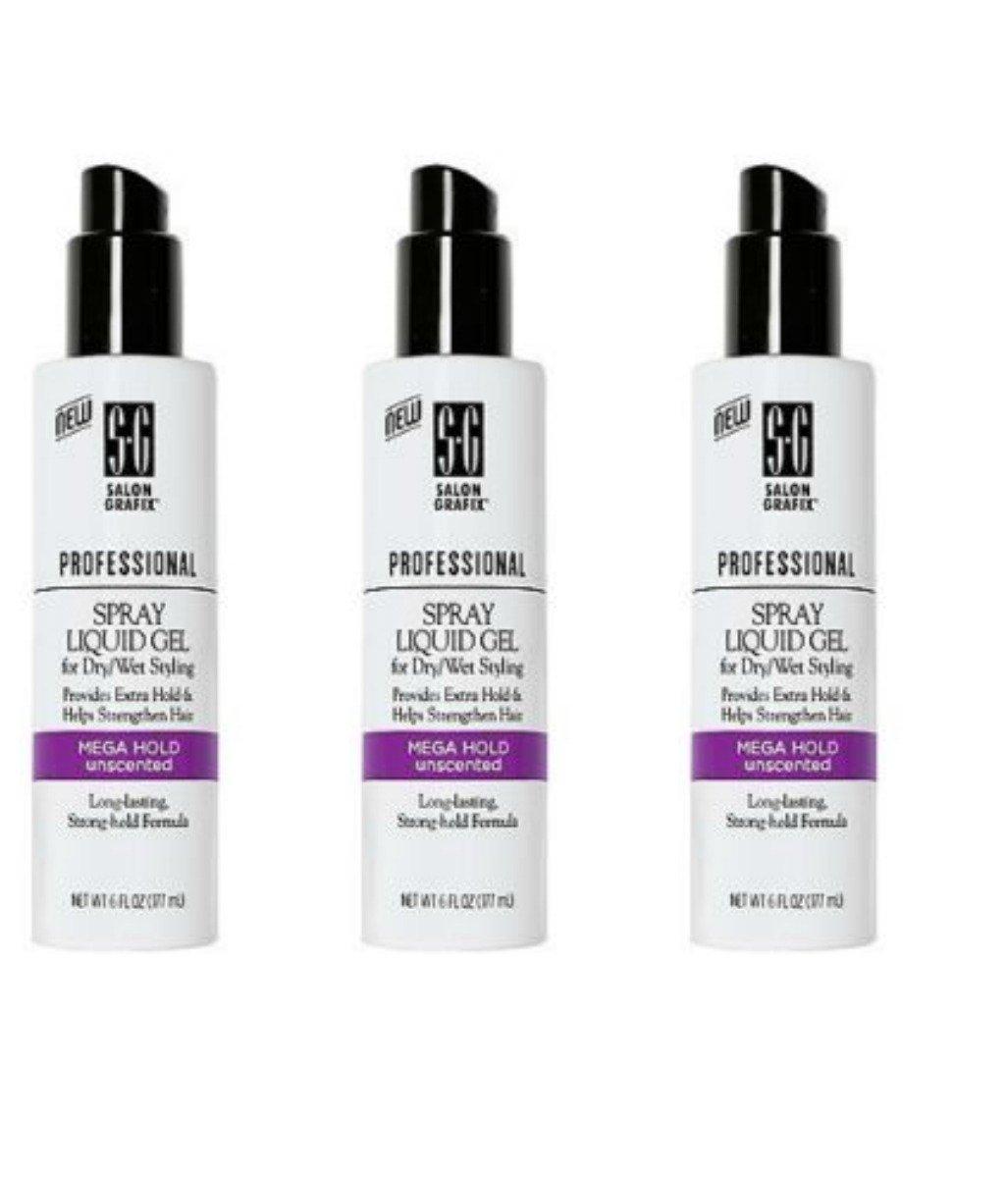 Salon Grafix Professional Spray Liquid Gel, Mega Hold, Unscented, 6 oz by Salon Grafix