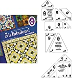 Marti Michell Easy Quilt Template Bundle for Beginner Quilting - 4 Items: Volume 5 Quilting Book, Template Sets Q, R, T