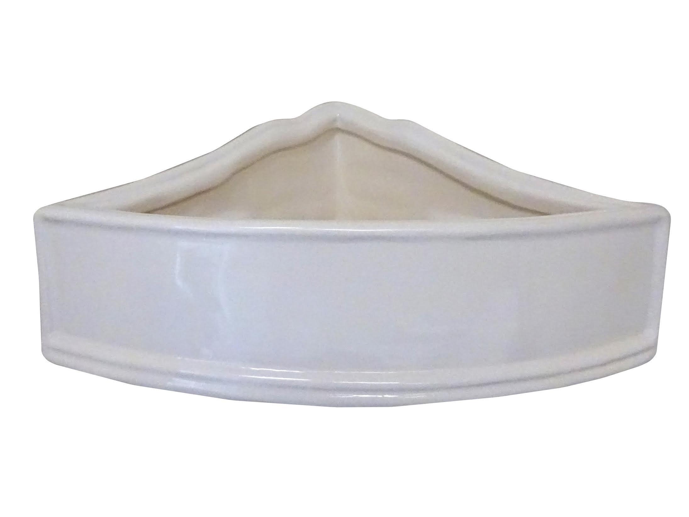 Art in Sink 4CB10/1010 Barthroom Corner Wall Basket Ceramic 10-1/2'' Shower, White by Art in Sink