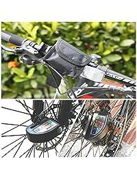 Bloqueo de disco de alarma, antirrobo, bloqueo de disco de freno de motocicleta, resistente al agua, 110 dB de sonido de alarma y 0.236 in de pin, bloqueo de seguridad de disco de freno con cable recordatorio de 4.9 ft para motocicleta scooter   bolsa de