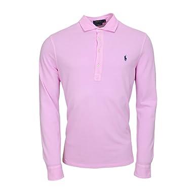 Ralph Lauren Polo Manches Longues Basique Rose pour Homme  Amazon.fr ... 4ae39c4f51c7