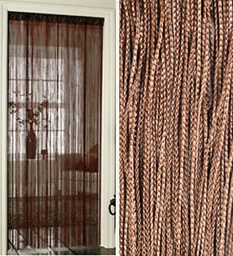 String Curtains Patio Net Fringe For Door Fly Screen Windows Divider Cut To Sizecoffee 100x200cm