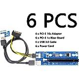 Yikeshu USB 3.0 PCI-E 1x Espresso a 16x Riser Extender Cavo Estrazione Scheda adattatore (6 PCS)