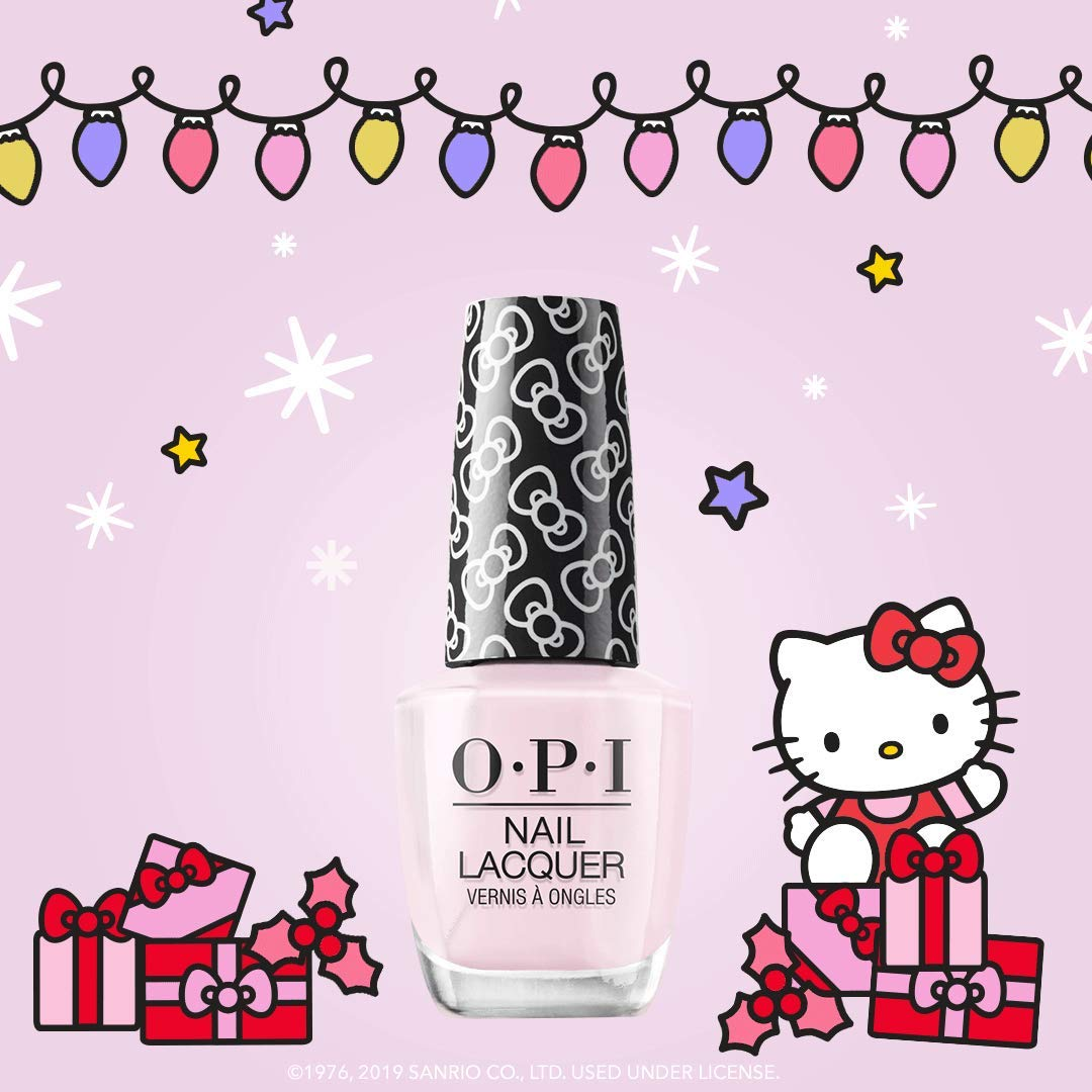 OPI Hello Kitty Nail Polish Collection, Nail Lacquer, Let's Be Friends!, 0.5 Fl Oz by OPI