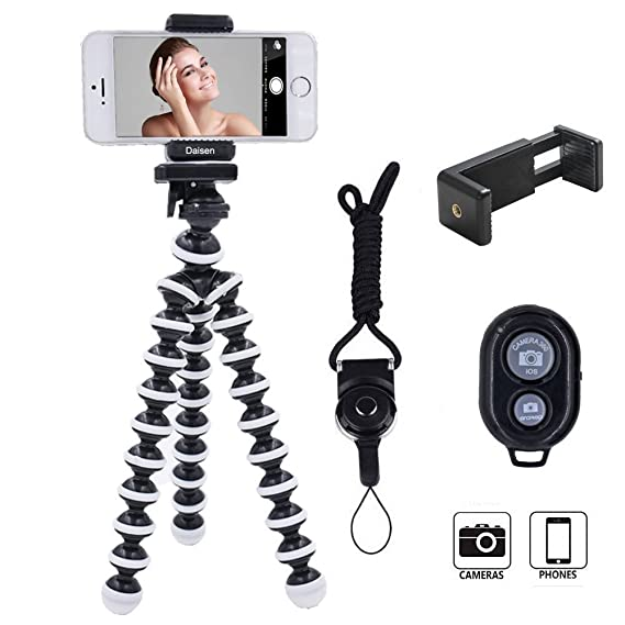 buy online 92c1a 1fb17 Amazon.com : DAISEN Octopus Camera Holder and Phone Tripod for ...